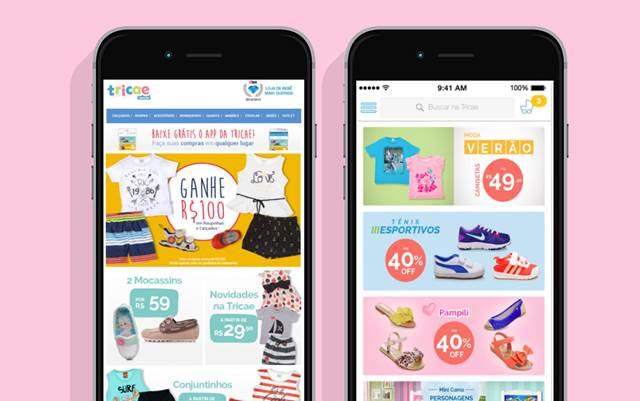 E-mail marketing que direciona para aplicativo